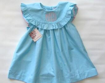 Girl easter Dress, Easter Dress, Toddler Easter Dress, Spring Dress, Monogram Dress, Girl Easter Outfit, Birthday Dress, 4T, 5T, 6T