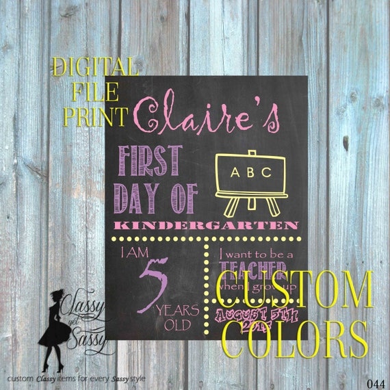 First Day Of School Chalkboard Sign 044