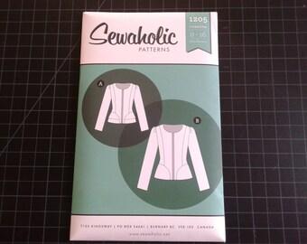 Jacket Pattern, Cordova, Sewaholic, work attire, peplum, zippered, sewing pattern, pear shape figure, intermediate level