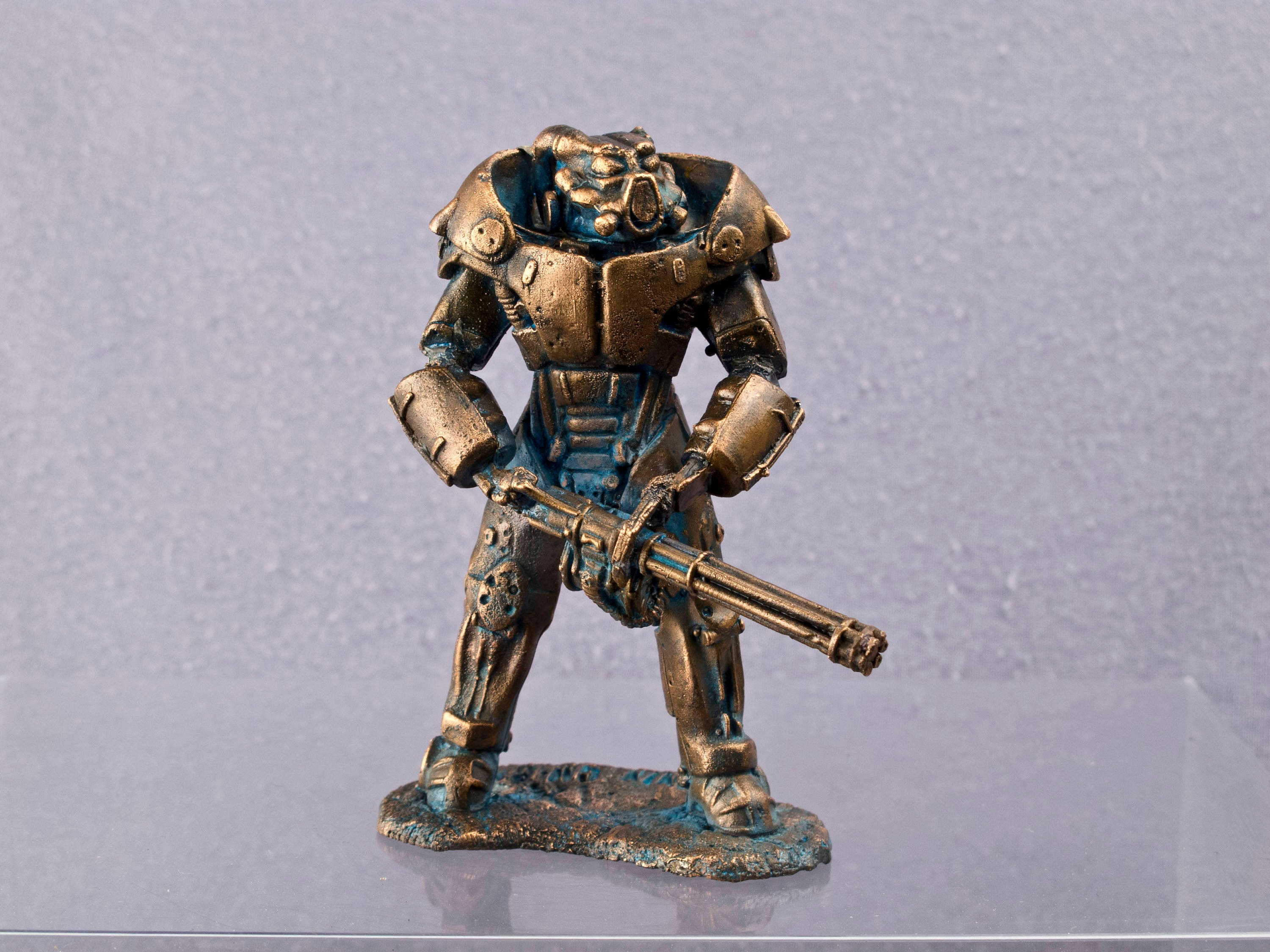 Power armor exoskeleton model mm copper figur Сollection
