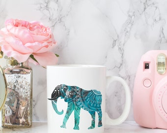 Elephant Coffee Mug Custom Coffee Mugs Ceramic Mugs Fun Mugs Office Mugs Personalized Mugs Custom Mugs Teacher Gifts Unique Birthday Gift
