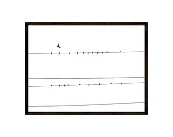 Minimal bird art, bird print, bohemian print, minimalist photo, line drawing, downloadable photography, Scandinavian print,minimal wall art
