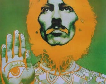 Original Stern 1967 George Harrison Psychedelic Poster by Richard Avedon