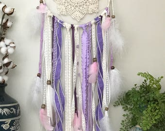 Large Purple Dream Catcher, Large Dream Catcher, Bohemian Wall Decor, Boho home decor, Nursery Decor, Nursery Wall Decor, Graduation Gift,