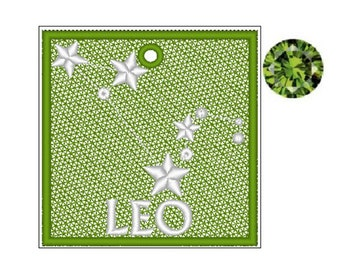 Leo Zodiac FSL Bookmark - Book Lovers Gift - FSL - Embroidery Design - Multiple Formats