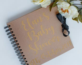 Baby Shower guest book, Baby shower memory book, gift for new baby, baby photo book, baby scrap book, baby memory book