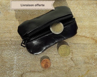 """Wallet chocolate / brown leather double compartment. Vegetable tanned. """"Sewing manual"""""""