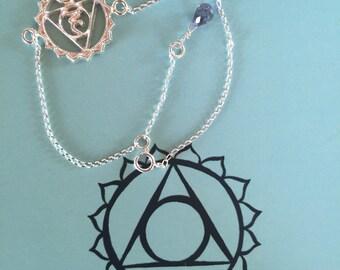 Vishiddhi chakra bracelet - chakra bracelet - bracelet