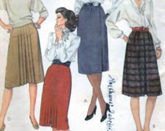 Vintage Uncut Misses sz 10 80's Skirt Pattern, 8754