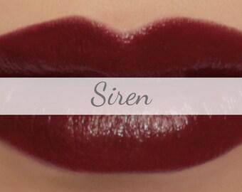 "Vegan Lipstick Sample - ""Siren"" (deep oxblood red color) lip tint, balm, lip colour natural lipstick"