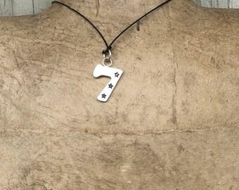 Lucky Seven pendant in silver