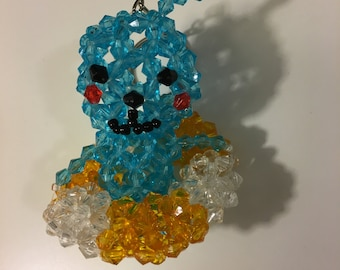 3D bicone bead animal