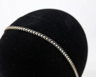 Vintage black and gold cobs #1534 chain headpiece headband