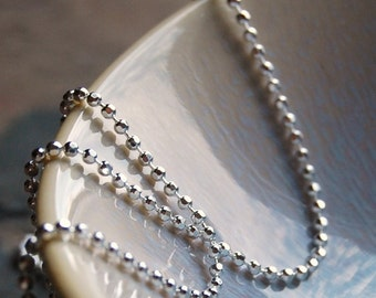 Sterling silver chain 1.5mm Faceted Round Diamond Cut, Italian Chain gifts for her