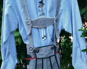Boys 2pc. Traditional Lederhosen Oktoberfest US Size 9/ Euro 128 St. Peter Trachten