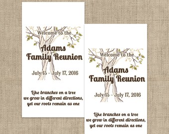 Family Reunion Hershey's Mini's Chocolate Wrappers, Family Reunion  Mini Wrappers, Family Reunion , Mini Wrappers, Mini Hershey Wrappers