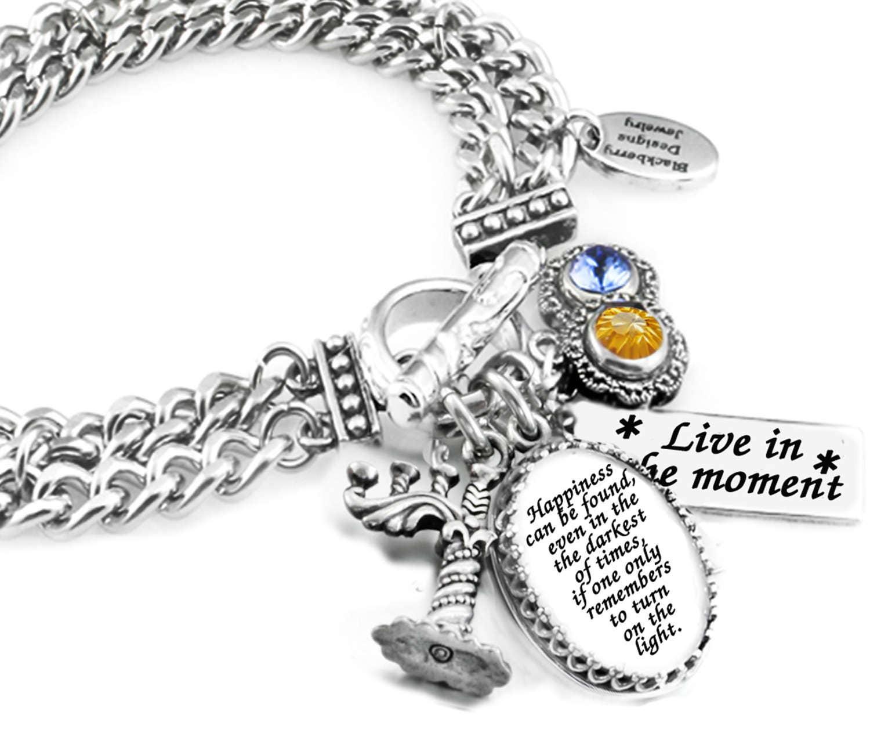 Inspirational Charm Bracelets: Inspirational Bracelet Silver Inspirational Quote Charm