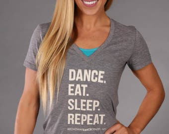 Dance Eat Sleep Repeat Tee (Gray)