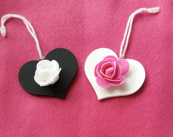 Flower Hanging Hearts