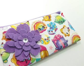 Cash Budget Wallet, Coupon Holder with Zipper & Dividers -Shopkins- for use with the Dave Ramsey System