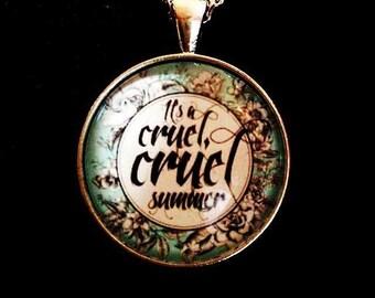 Pop culture necklace: It's a cruel, cruel summer...