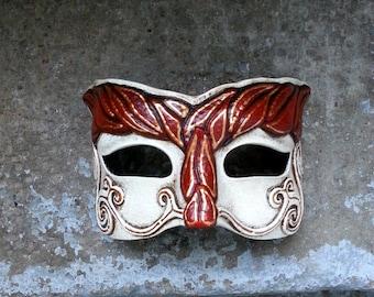 Silvan latex eye mask for LARP, costume, cosplay