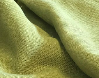 "Olive Burlap Fabric 60"" Wide Per Yard"