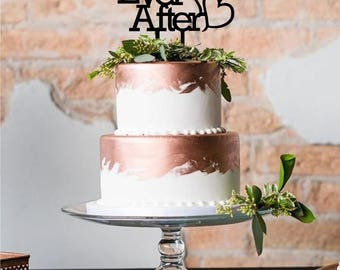 Happily Ever After Cake Topper- Custom Acrylic Cake Topper - Laser Cut - Variety of Colors - Wedding Topper - Cake Decoration