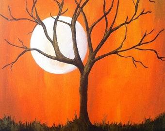 Acrylic on canvas - Harvest Moon