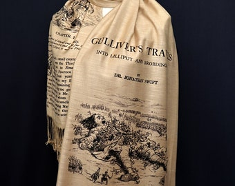 Gulliver's Travels by Jonathan Swift Scarf Shawl Wrap