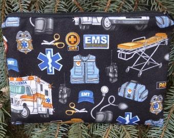 Paramedic zippered bag, makeup case, accessory bag, zippered pouch, zippered bag, The Scooter