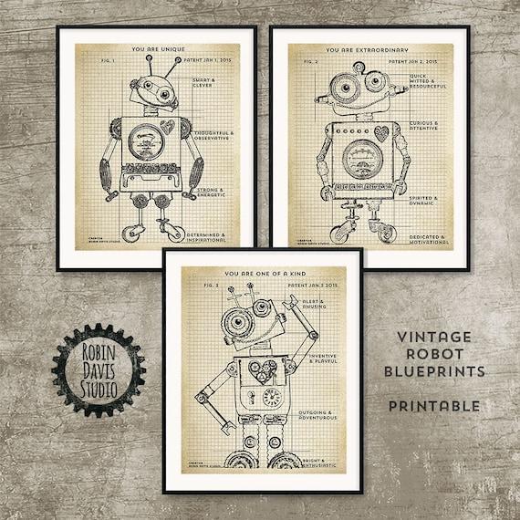Robot blueprint printable 8x10 robot patent printable te gusta este artculo malvernweather Gallery