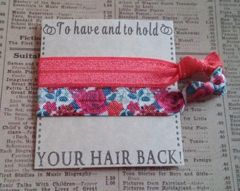 Beautiful Flower Hair Ties, flower favors, hair tie favors, bachelorette favors, bridal shower, baby shower, party favors, wedding