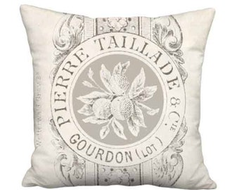 20x20 Inch READY TO SHIP - Linen Taillade Pillow - Linen Cotton French Country Farmhouse Pillow Cover - French Cottage Cushion Cover