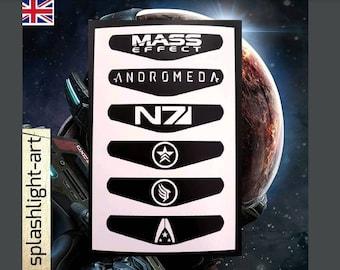 PS4 Controller Light bar 6x Mass Effect Andromeda vinyl sticker Decal playstation 4 N7 logo