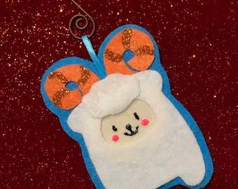Snow Goat Ornament