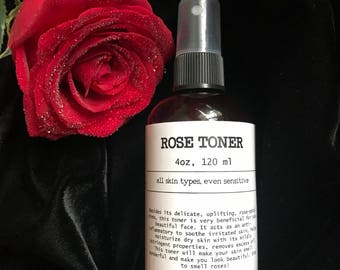 Rose water toner, rose toner, aromatherapy spray, facial toner, uplifting mist,