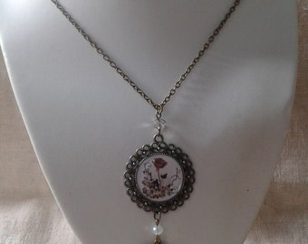 """""""Brown rose"""" necklace"""