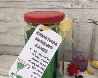 Christmas Drinking Games - Jam Packed Jar - Drinking Games - Shot - Christmas Eve Game - Christmas Game - Christmas Activities - Christmas