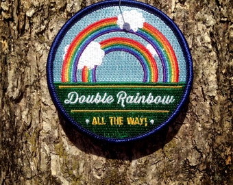 Double Rainbow Iron-On Patch