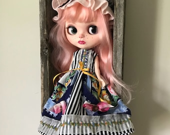 Blythe Doll Dress Set mop cap
