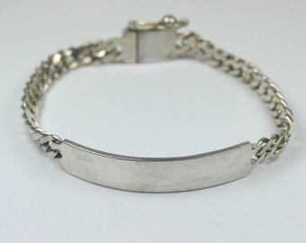 Minimalist Sterling Silver ID Bracelet