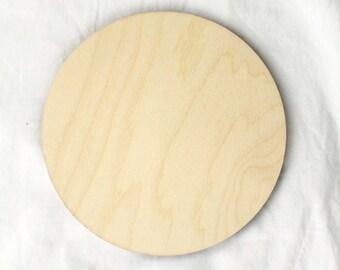 Large Circle Wood Shape, Circle Unpainted Wood Craft Shape, Wood Disc for Crafting, Wood Polka Dot, Small Large Wood Circle, Circle Decor