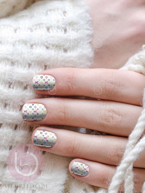 Color LV Waterslide Nail Decal Nail Design Nails Press On