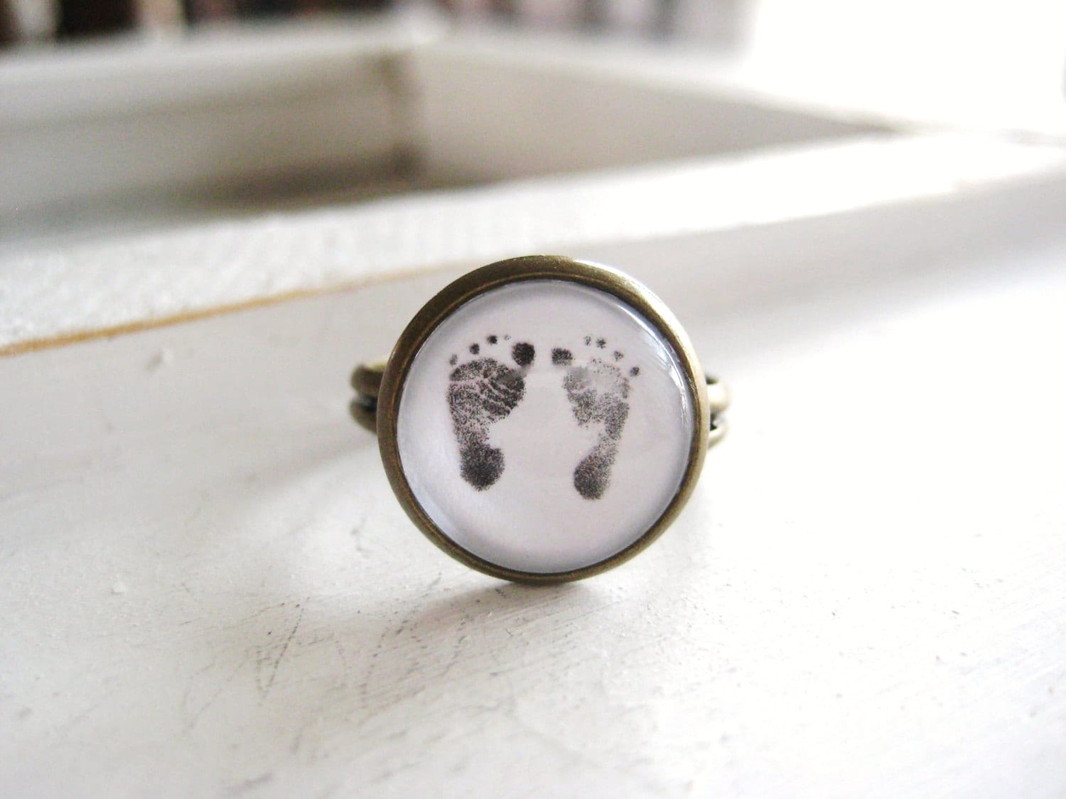 footprint product by touchonsilver print personalised original baby keyring foot silver on and hand touch rings