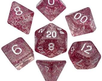7-Die Set Ethereal: Light Purple/White - MTD208 - Metallic Dice Games