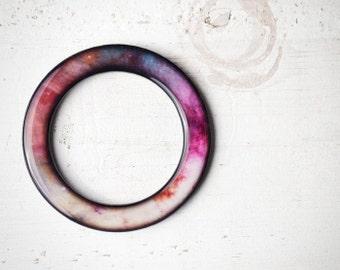 Pink Galaxy bracelet, Celestial bracelet, Mothers day gift Pink bangle, Purple and pink bracelet, Galaxy bangle, Purple bangle Space jewelry
