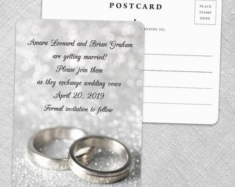 With This Ring - Postcard - Save-the-Date