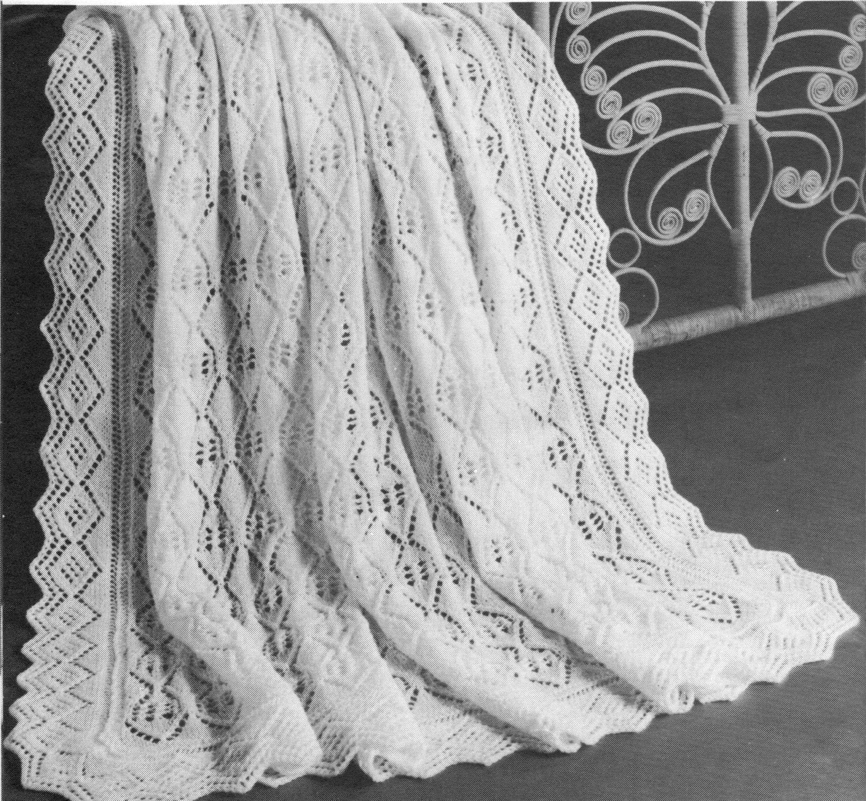 vintage knitting pattern baby princess charlotte style blanket