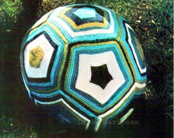 Crochet BALL Pattern Vintage 70s Crochet Baby Soccer Ball Pattern Crochet Toy Pattern Crochet Granny Ball Pattern Crochet Baby Ball